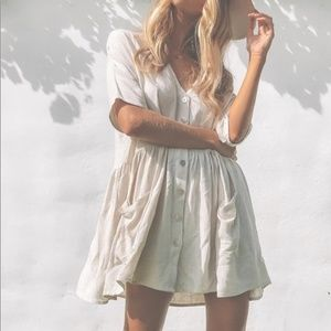 Princess Polly The Sandy Mini Dress Oversized Boho